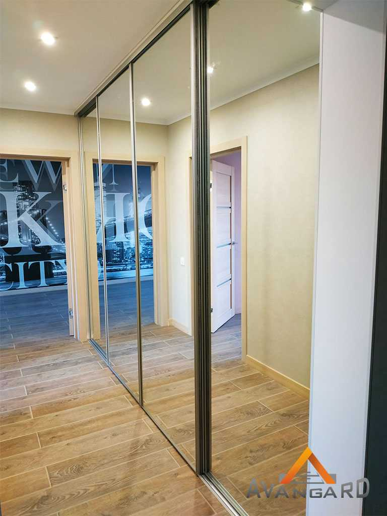 шкаф с зеркальными дверями